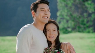 Hyun Bin dan Son Ye Jin dalam Crash Landing on You.