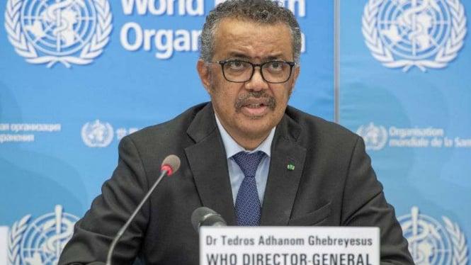 Direktur Jenderal Badan Kesehatan Dunia alias WHO, Dr. Tedros Adhanom Ghebreyes