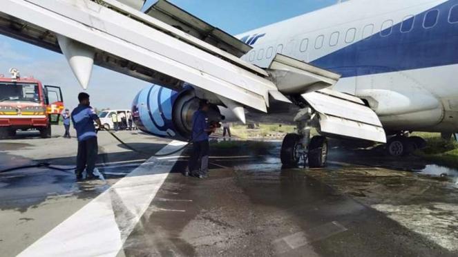 Pesawat Trigana Air tergelincir di Bandara Sentani Papua
