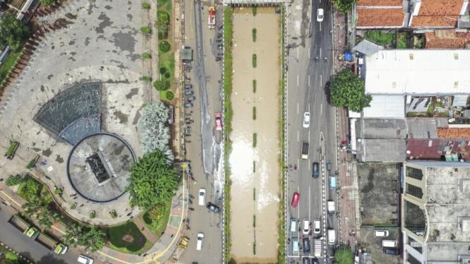 Banjir di Underpass Senen