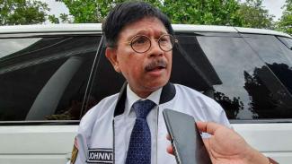 Menteri Komunikasi dan Informatika Johnny G. Plate.