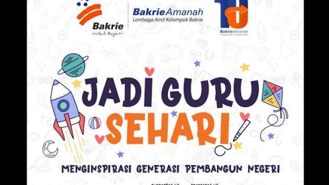 """Program relawan dari Bakrie Amanah """"Jadi Guru Sehari""""."""