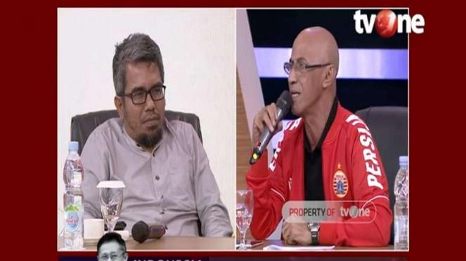 Pendukung Anies, Geisz Chalifah, mendebat politikus PKPI, Teddy Gusnaidi.
