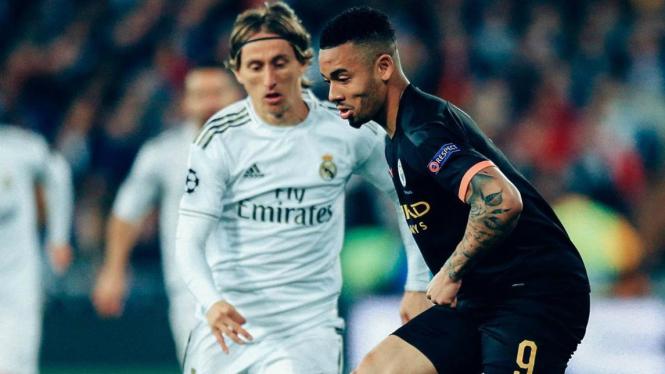 Laga Real Madrid versus ManCity di 16 besar Liga Champions