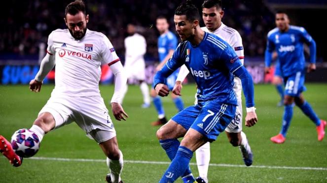 Laga Lyon versus Juventus di 16 besar Liga Champions