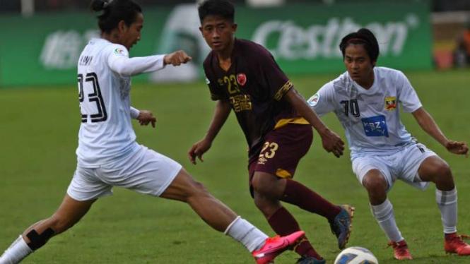 Duel PSM Makassar vs Shan United.