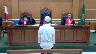 Brigadir Rangga dalam persidangan