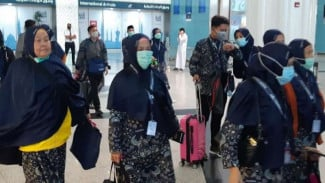 Jemaah umrah Indonesia sudah mendarat di Arab Saudi, Kamis (27/2/2020).