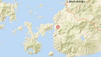 Peta lokasi gempa Labuhan Bajo, NTT.