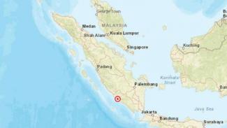 Lokasi gempa Sumatera.