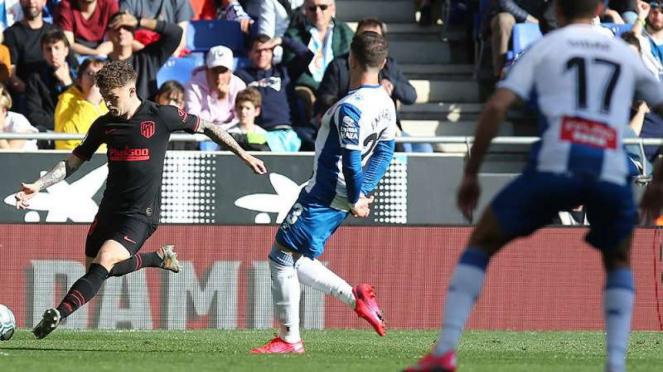 Duel Espanyol vs Atletico Madrid.