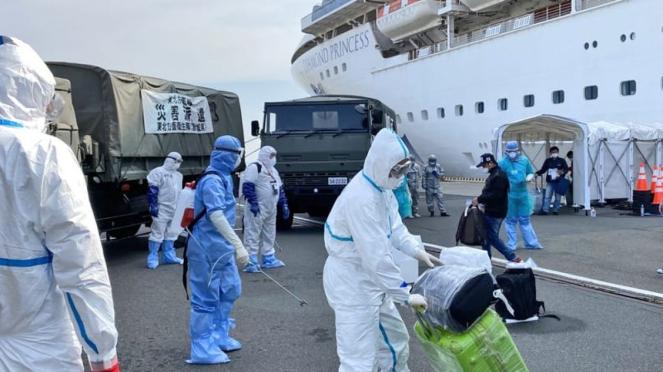 Evakuasi WNI dari kapal  Diamond Princess