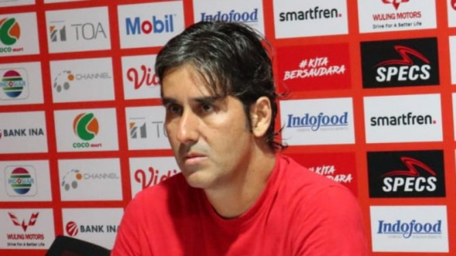 Pelatih Bali United, Stefano 'Teco' Cugurra.