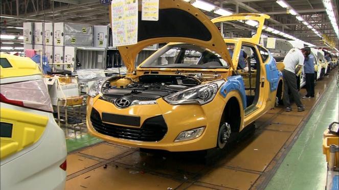 Pabrik Hyundai di Ulsan, Korea Selatan