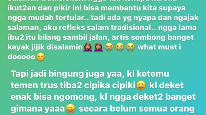Instagram Story Ashanty