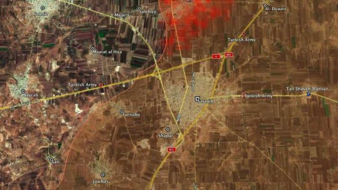 Zona perang Suriah vs milisi.