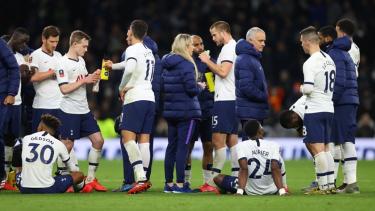 Tottenham Hotspur saat melawan Norwich City di Piala FA