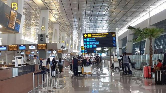 Suasana Bandara Soekarno-Hatta, Cengkareng