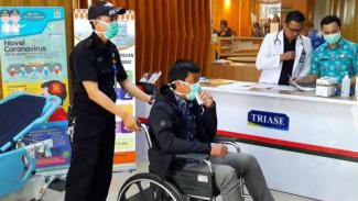 Simulasi penanganan pasien virus Corona (Foto ilustrasi).