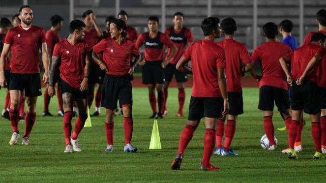 Latihan Timnas Indonesia.