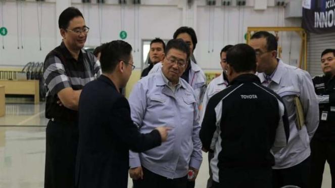 Kunjungan President Director dan Finance Diirector TAM ke Trainning Center