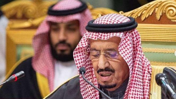 Raja Salman dan Pangeran Mahkota Mohammed bin Salman.