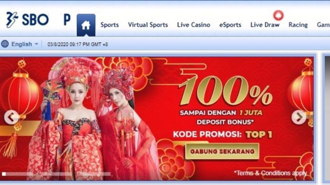 Potongan gambar situs judi sponsor Tira Persikabo