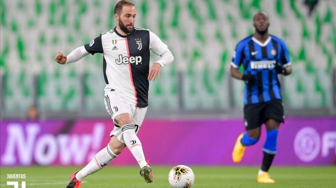 Penyerang Juventus, Gonzalo Higuain.