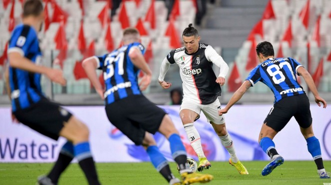 Duel Juventus vs Inter Milan di Serie A 2019/20