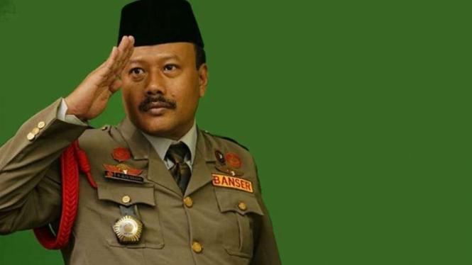 Komandan Satkornas Banser, Alfa Isnaeni.
