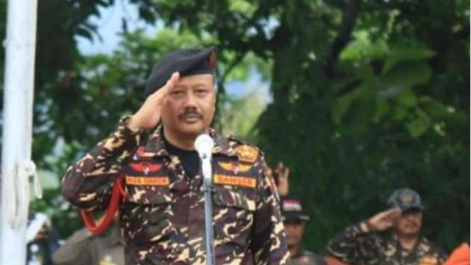 Komandan Banser Alfa Isnaeni