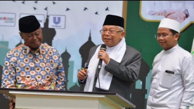 Wapres KH Ma'ruf Amin (Foto/Twitter/Kiyai_MarufAmin)