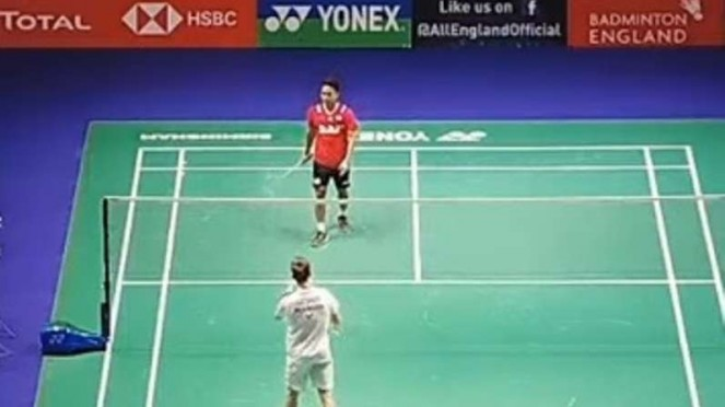 Anthony Sinisuka Ginting di All England Open 2020.