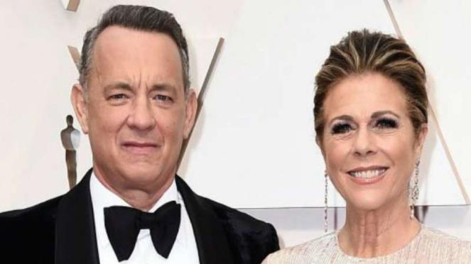 Aktor Tom Hanks dan istrinya, Rita Wilson.