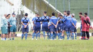 Suasana latihan Persib Bandung jelang menjamu PSS Sleman, Minggu 15 Maret 2020