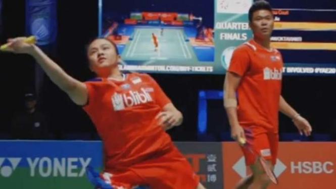 Ganda campuran Indonesia, Praveen Jordan/Melati Daeva Oktavianti di All England.