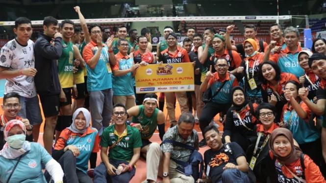 Jakarta BNI 46 juara putaran kedua Proliga 2020