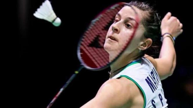 Tunggal putri Spanyol, Carolina Marin di All England Open 2020.