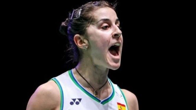 Tunggal putri Spanyol, Carolina Marin di All England Open 2020.