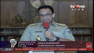 Gubernur Anies Baswedan di ILC Pro dan Kontra Lockdown