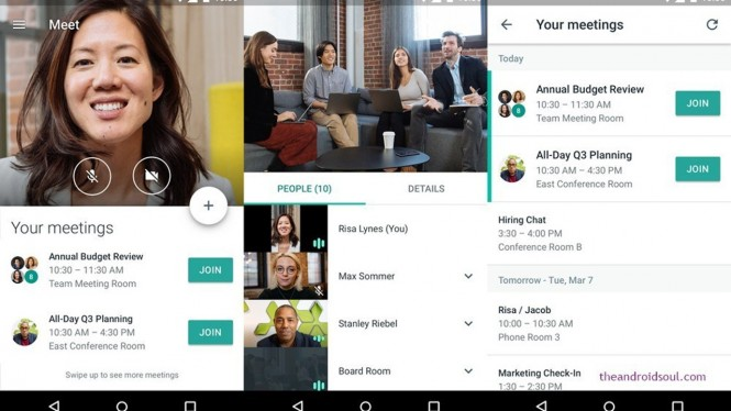Google Hangouts Meet.