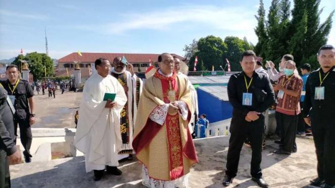 Misa pentasbihan uskup baru di Ruteng NTT