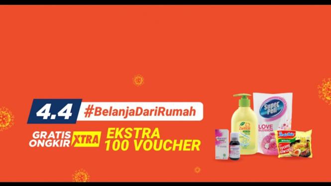 Kampanye Shopee #BelanjaDariRumah