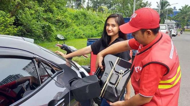 BBM untuk kendaraan bisa dikirim ke lokasi pelanggan