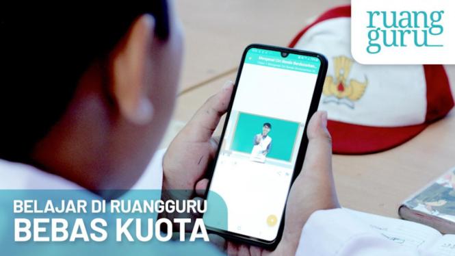 Aplikasi belajar online Ruangguru.