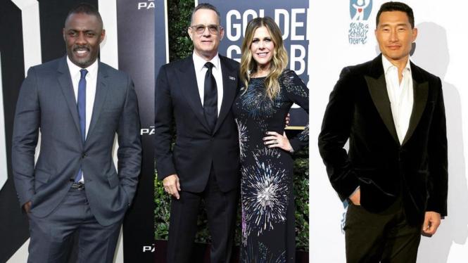 Idris Elba, Tom Hanks, Rita Wilson, dan Daniel Dae Kim.