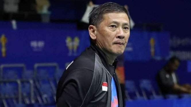 Pelatih tunggal putra Indonesia, Hendry Saputra.