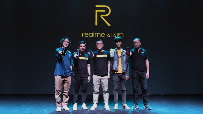 Peluncuran Realme 6 dan Realme 6 Pro di Jakarta, Selasa, 24 Maret 2020.