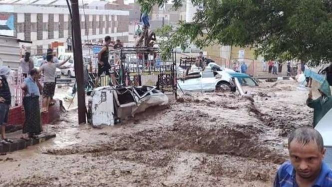 Banjir Kota Aden, Yaman.
