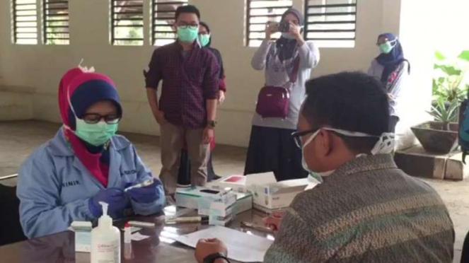 Rapid test corona di rumah sakit di Kabupaten Bogor
